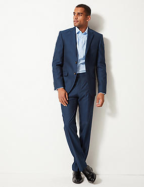 Big & Tall Indigo Tailored Fit Trousers, INDIGO, catlanding