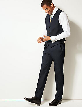 Navy Tailored Fit Waistcoat