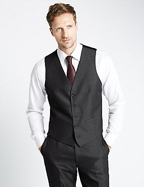 Tailored Fit 5 Button Waistcoat with Buttonsafe™