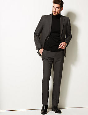 Big & Tall Charcoal Tailored Fit Trousers