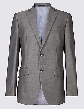 Big & Tall Grey Tailored Fit Jacket, GREY, catlanding