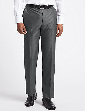 Grey Regular Fit Trousers