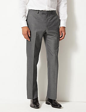 Tailored Fit Flat Front Trousers with Buttonsafe™