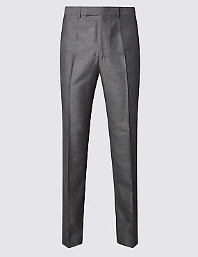 Grey Tailored Fit Trousers
