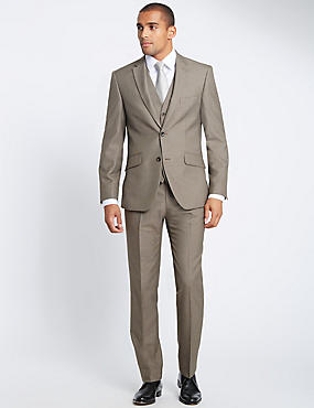 Tailored Fit Suit with Waistcoat