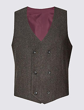 Wool Blend Donegal Waistcoat with Buttonsafe™