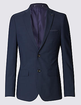 Blue Checked Modern Slim Fit Suit
