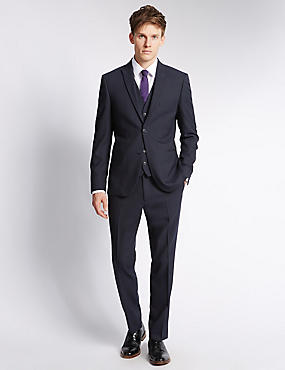 Navy Modern Slim 3 Piece Suit