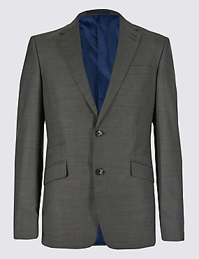 Big & Tall Grey Slim Fit Jacket