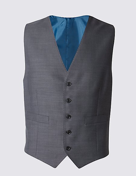 Grey Tailored Fit Waistcoat