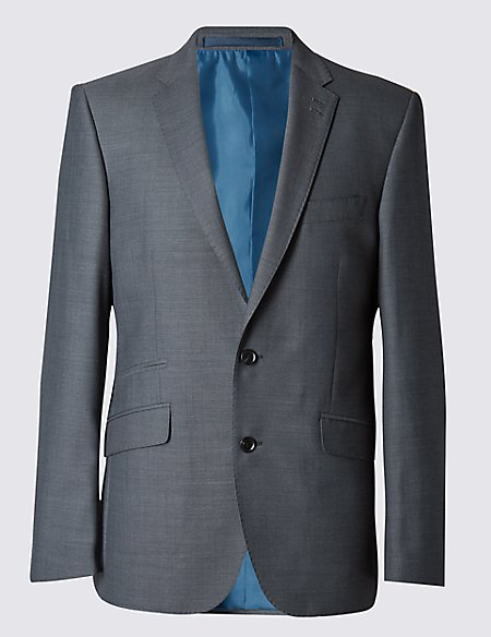 Grey Tailored Fit Jacket