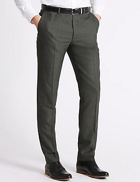 Big & Tall Grey Slim Fit Trousers, GREY, catlanding