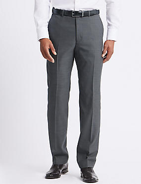 Grey Regular Fit Trousers, GREY, catlanding
