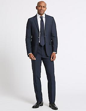 Big & Tall Indigo Tailored Fit Jacket, INDIGO, catlanding