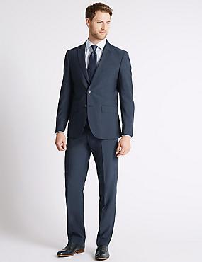 Indigo Regular Fit Jacket, INDIGO, catlanding