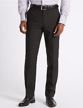 Brown Tailored Fit Trousers