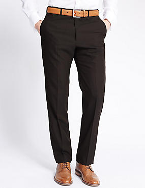 Brown Regular Fit Trousers