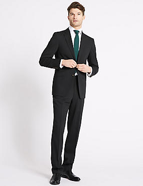 Charcoal Textured Regular Fit 3 Piece Suit