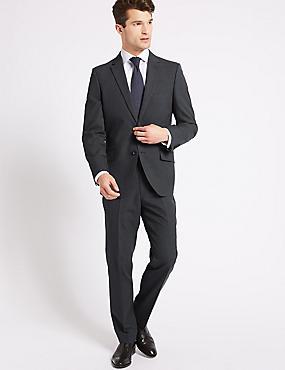 Grey Striped Tailored Fit Jacket, GREY, catlanding