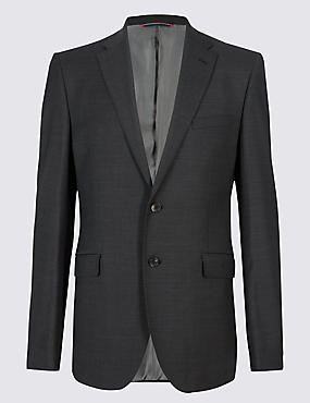 Charcoal Tailored Fit Wool Suit