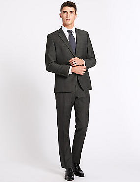 Big & Tall Grey Tailored Fit Wool Suit