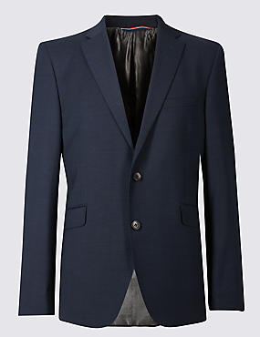 Indigo Tailored Fit Wool Jacket