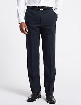 Navy Regular Fit Trousers, NAVY, catlanding