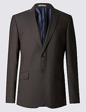 Brown Regular Fit Suit