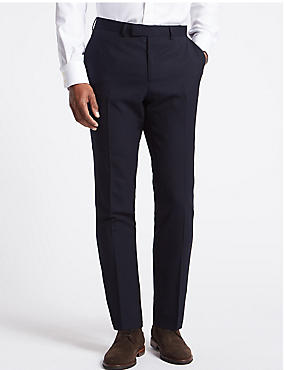 Big & Tall Navy Regular Fit Wool Trousers