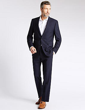 Blue Striped Tailored Fit Suit
