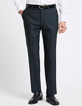 Indigo Striped Tailored Fit Trousers, INDIGO, catlanding