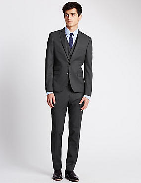 Charcoal Superslim 3 Piece Suit