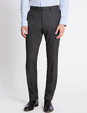 Charcoal Superslim Fit Trousers