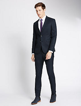 Indigo Textured Modern Slim Suit