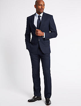 Indigo Tailored Fit Travel Suit