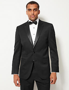 Big & Tall Black Regular Fit Tuxedo Suit