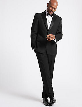 Big & Tall Black Regular Fit Suit