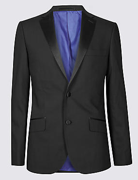 Black Tailored Fit Dinner Jacket
