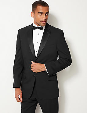 Black Regular Fit Tuxedo Suit