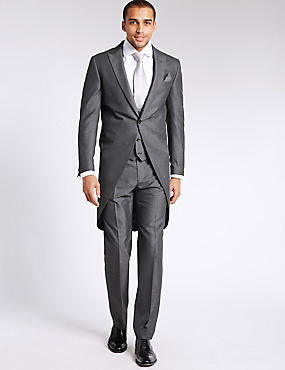 Grey Tailored Morning 3 Piece Suit