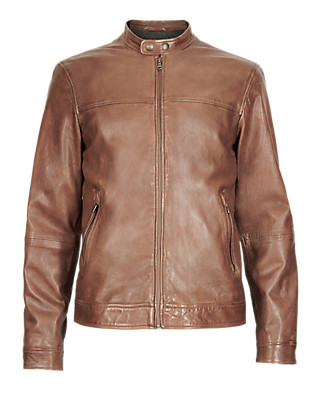 Leather Bomber Jacket Clothing