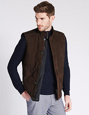 Tailored Fit Suede Reversible Gilets