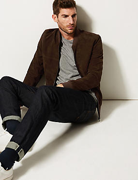 Suede Jacket, BROWN, catlanding