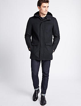 Wool Rich Duffle Coat