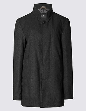Texture Funnel Neck Jacket