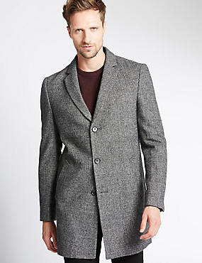 Single Breasted Revere Overcoat