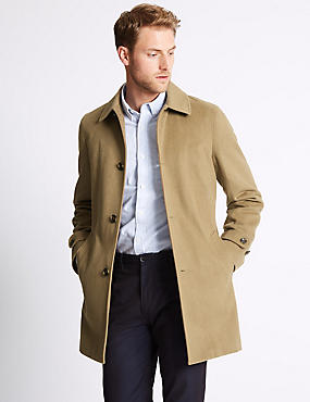 Wool Blend Coat with Buttonsafe™
