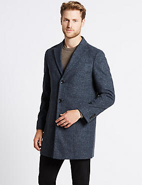 Wool Blend Revere Collor Coat