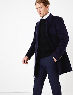 Pure Cashmere Coat, NAVY, catlanding