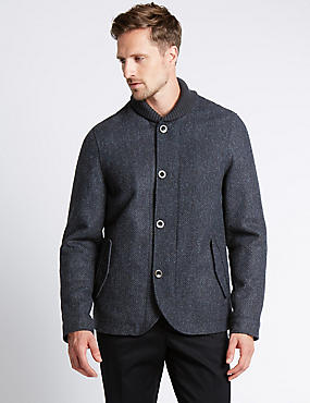 Pure Wool Shawl Collar Jackets